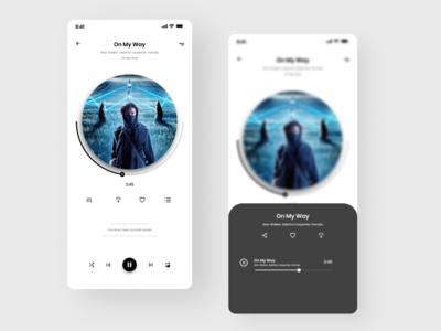 Music App UI Concept Dark Mode (UI Practice 05)