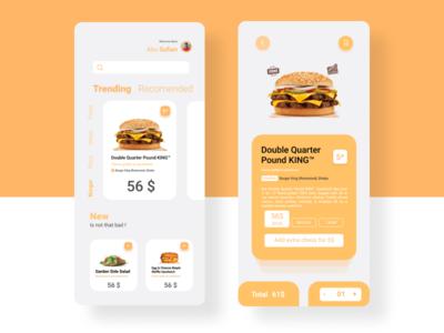 Food Delivery App UI Concept Dark Mode (UI Practice 06)