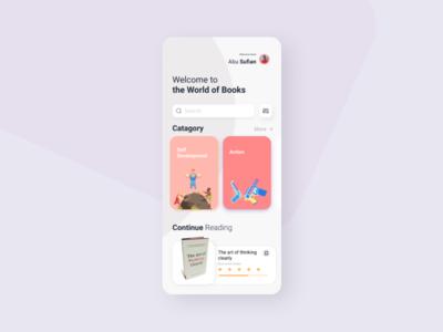 Reading App UI Concept (UI Practice 07)