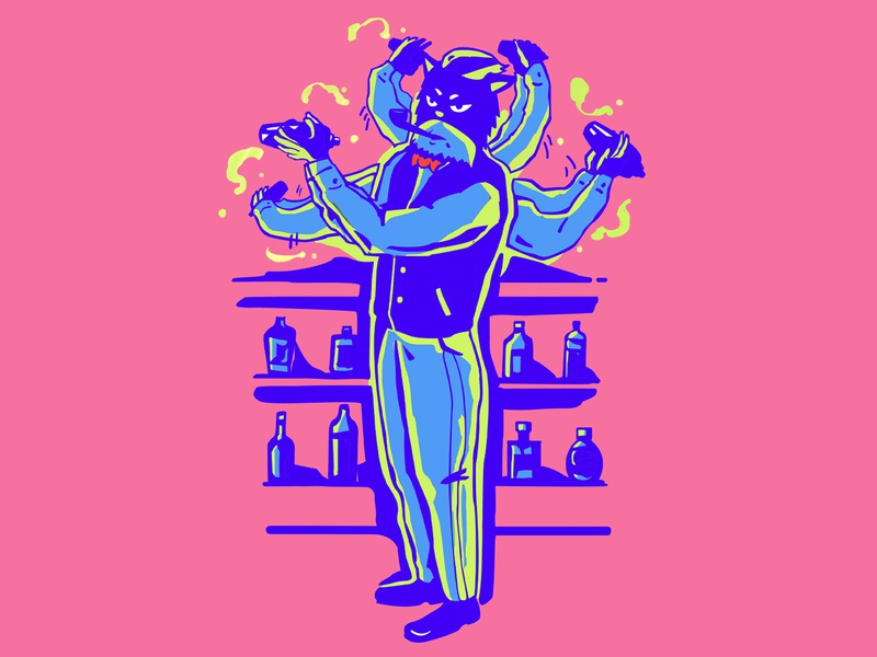 Black Cat Detective graffiti branding concept design graphic design illustraion character design
