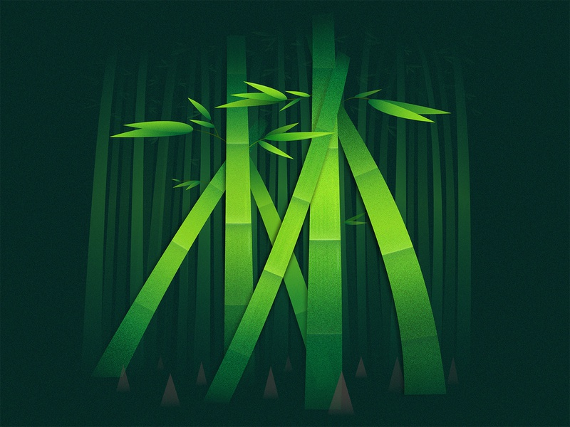 Furinkazan - Forest/林 typography chinese culture font design calligraphy illustraion graphic design