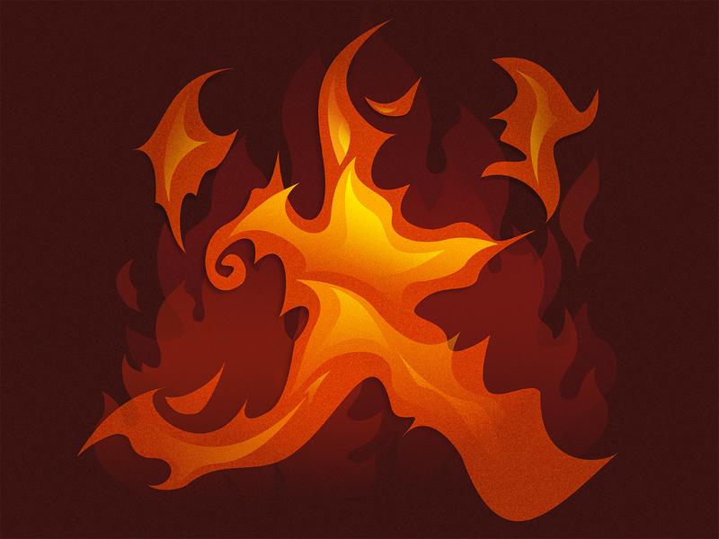 Furinkazan - Fire/火 typography chinese culture calligraphy font design illustraion graphic design