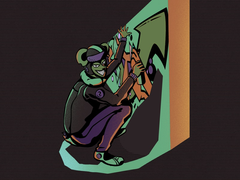Beita graffiti concept design character design branding illustraion graphic design