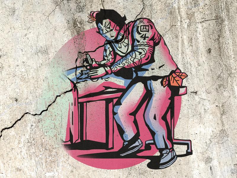 Calabash Brother graffiti concept design character design branding illustraion graphic design