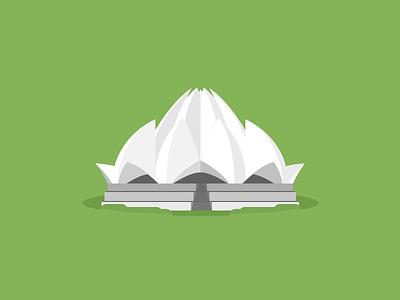 New Delhi, Lotus temple icon flat icon flat icon lotus temple india new delphi
