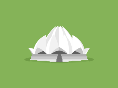 New Delhi, Lotus temple icon flat icon flat icon lotus temple india new delphi