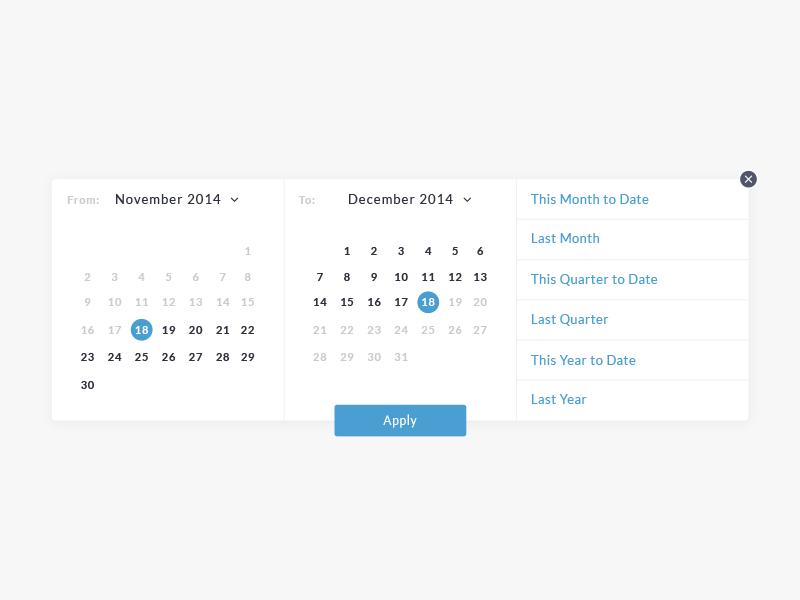 Date Range date range picker selector ux ui