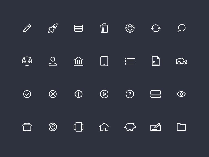 MX Icon Set icons font vector simple iconography money finances iconset