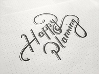 Happy Planning Lettering