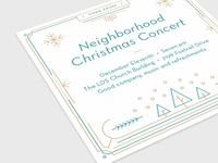 Christmas Concert Invitation Card