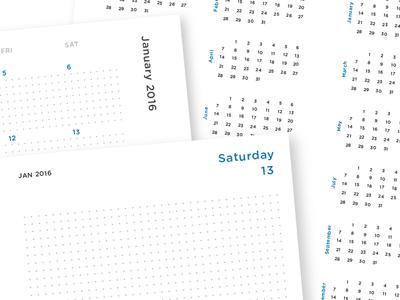 Dot Grid Planner calendar paper organized dot grid daily planner
