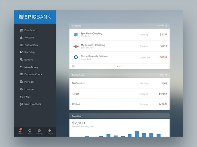 Tablet Finance App banking sidenav cards management financial helios tablet money finance