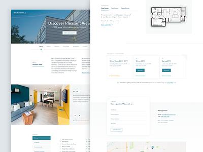 Room Choice Landing Page ui website product management property landing page web design
