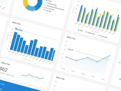 Numetric's New Metrics 😏 numetric card data line chart bi graphs colors pie chart bar chart analytics dashboard kpi chart metric