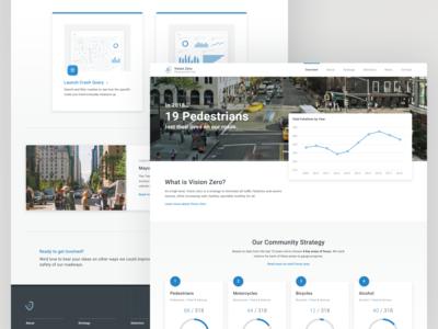 Vision Zero Homepage Concept