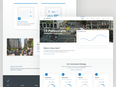 Vision Zero Homepage Concept analytics chart street graph data crashes mobility roads safety traffic