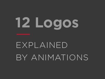 12 Logos Explained by Animations. minimal brand animation symbol monogram gif animated collection logo