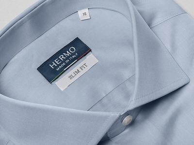 HERMO Shirt Manufacture / Rebrand / Shirt, Label stationery packaging lettering fashion shirt rebrand branding logotype logo