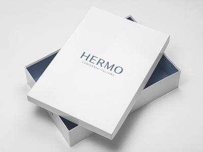 HERMO Shirt Manufacture / Rebrand / Packaging, Box stationery packaging lettering fashion shirt rebrand branding logotype logo