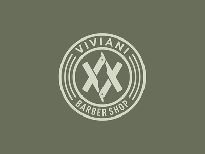 Logo / Viviani Barber Shop stationery blade tatoo modern sign hairdressing coiffeur hairstylist hairdresser branding barber shop logo design