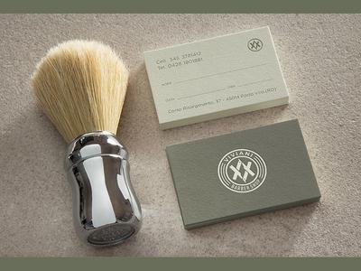Business Cards / Viviani Barber Shop stationery blade hipster modern business cards hairdressing coiffeur hairstylist hairdresser branding barber shop logo design