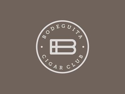 Logo Bodeguita Cigar Club project construction b monogram hidden message tobacco cigar symbol logo design branding