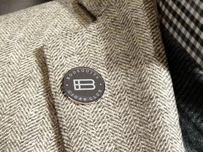 Pin Bodeguita Cigar Club project construction b monogram hidden message tobacco cigar symbol logo design branding