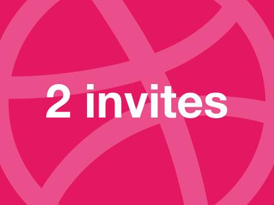 2 Invitations Dribbble dribbble invites invite invitations invitation
