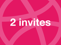 2 Invitations Dribbble