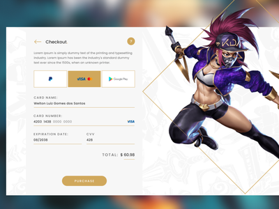 Checkout — DailyUI Design Challenge 2/∞ checkout ui figma dailyui