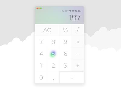 Calculator — DailyUI Design Challenge 4/∞ calculator ui figma dailyui
