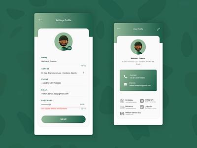Settings — DailyUI Design Challenge 7/∞ settings app icon ui figma dailyui