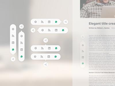 Social Share — DailyUI Design Challenge 10/∞ social share ui figma dailyui