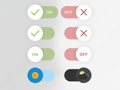 On/Off Switch — DailyUI Design Challenge 15/∞ onoff switch ui figma dailyui