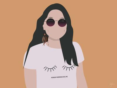moi minimal flat vector illustration design