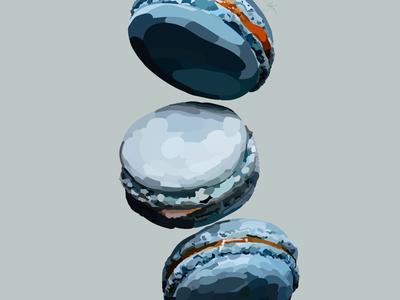 macarons food minimal flat vector illustration design