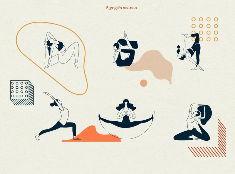 Content.Yoga.Graphic KIT pose yoga mat hatha yoga yoga pose graphics abstract