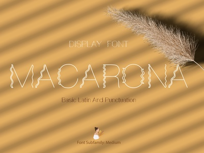 Macarona Font thin wavy