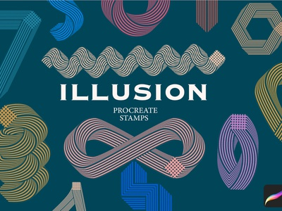 """Illusion"" Procreate stamps brushes procreate"