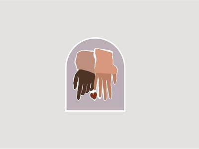 Hand and Heart Graphics Set love hands heart hand modern