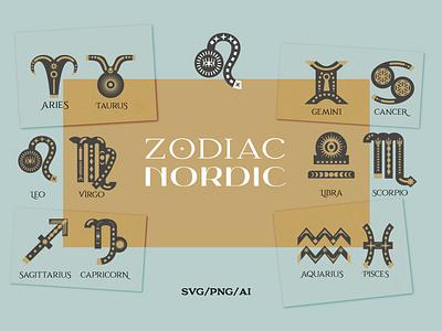 Zodiac signs. Astrology signs set embroidery designs sublimation designs zodiac jewelry zodiac cancer zodiac decor svg designs birthday svg svg files for cricut zodiac gift svg astronomy