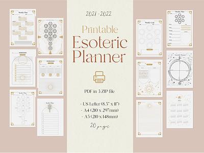 Printable Esoteric planner mystic  planner template