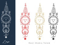 Root chakra totem.Chakras Totems Collection.
