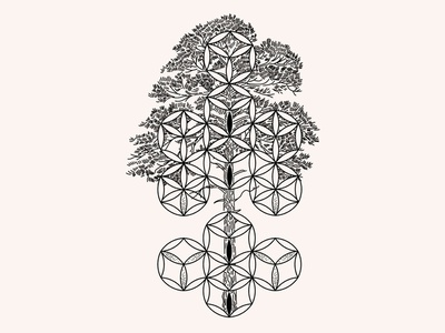 Tree of Life. SVG|PNG|Ai|JPEG vector sacred geometry geometric shapes esoteric design symbolic tree of life astrology yoga crown root heard sacral chakra geometry sacred totem chakra