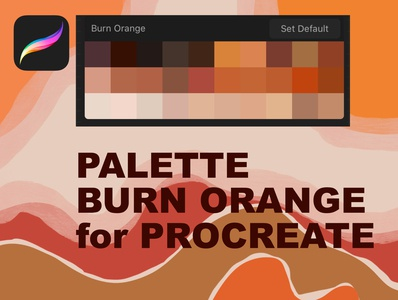Palette Burn Orange for Procreate burn orange instant download apple procreate swatches texas color illustration color color colour forecast procreate swatches procreate swath