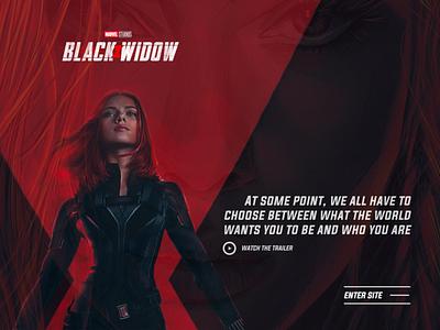 Black Widow Movie -  Landing Page web design branding ui web ui movie premiere movie landing page black widow marvel