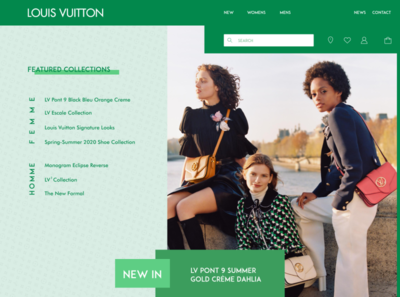 Landing Page for LV challenge design challenge lv louis vuitton branding landing page web ui design