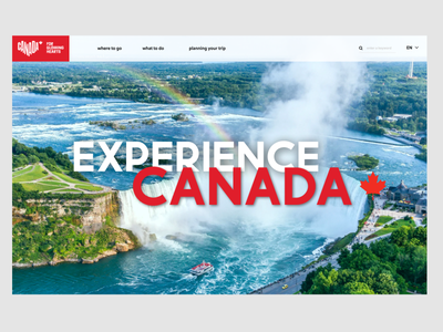 Landing Page Redesign for Canada ui redesign redesign country profile country design challenge challenge branding ui web design landing design landing page canada