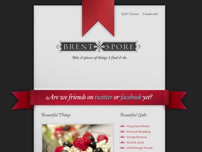 BrentSpore.com Email Newsletter