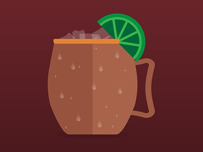 Mule illustration cocktail drink moscow mule